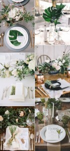 2017 trending elegant and modern greenery wedding ideas for centerpieces