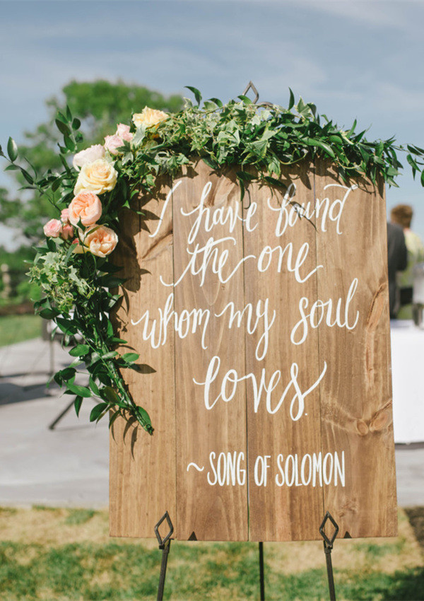22 great wedding sign ideas to inspire your big day oh best day ever 2017 trending wooden wedding signs for outdoor weddings junglespirit Choice Image