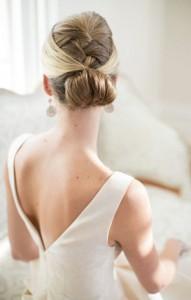 french style updo bridal wedding hair ideas