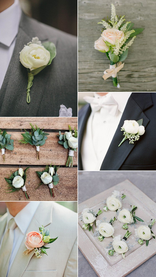 greenery wedding ideas for boutonniere