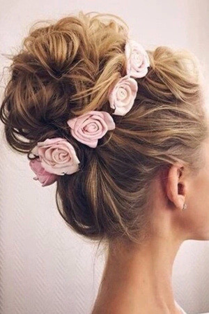 Romantic Updo Bridal Hairstyles With Flower Crown Oh Best Day Ever