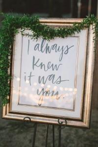 vintage gold wedding signs