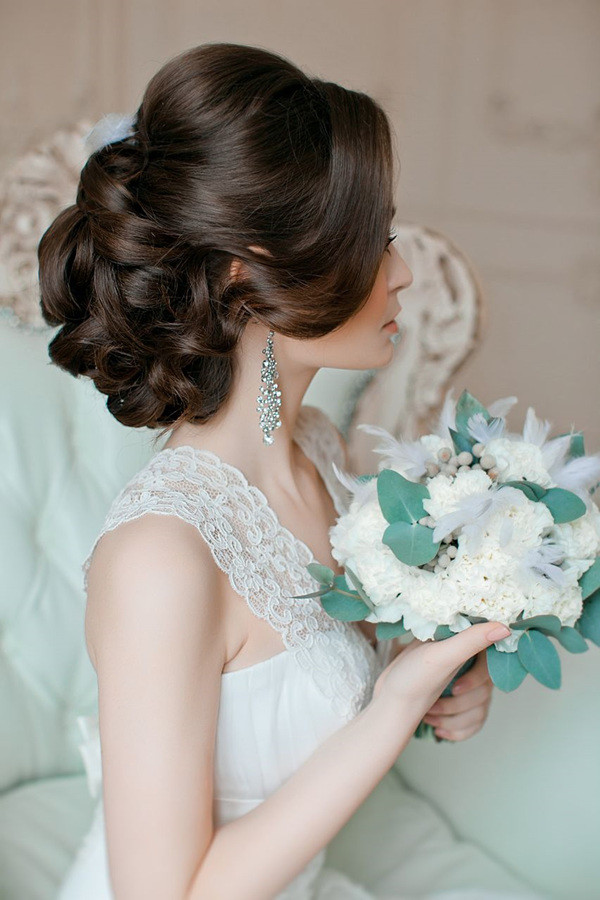 vintage updo wedding hairstyles , Oh Best Day Ever