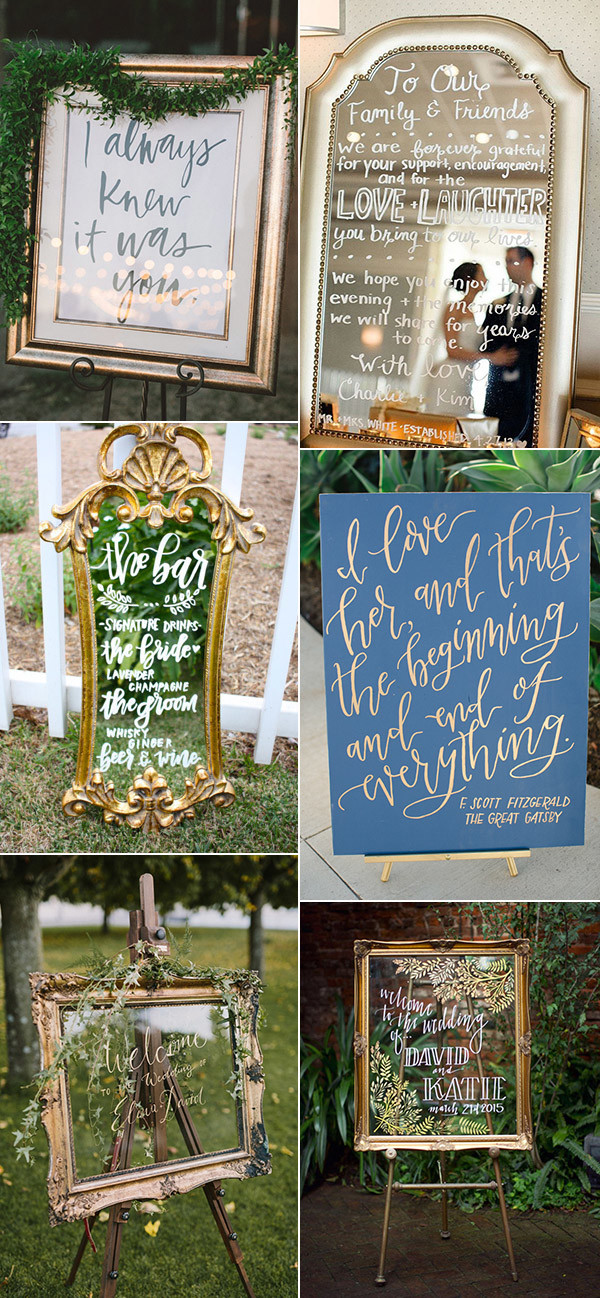vintage wedding signs for 2017 trends