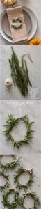 diy Rosemary Wreath Place Cards for wedding reception ideas