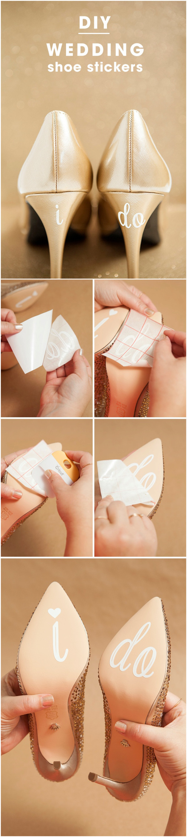 super easy diy wedding shoes stickers