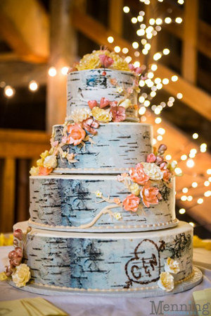 woodland country wedding cake ideas