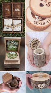 romantic wooden ring boxes for rustic wedding ideas