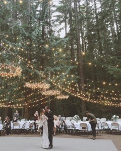 forest wedding ideas with lights up