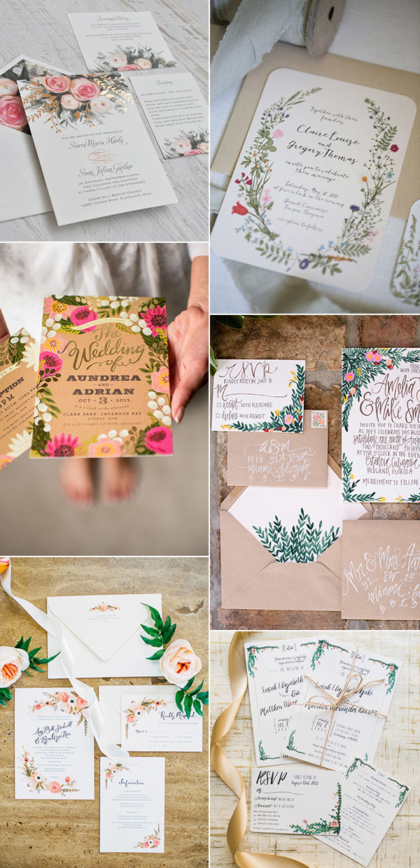 garden themed wedding invitations for 2017 trends