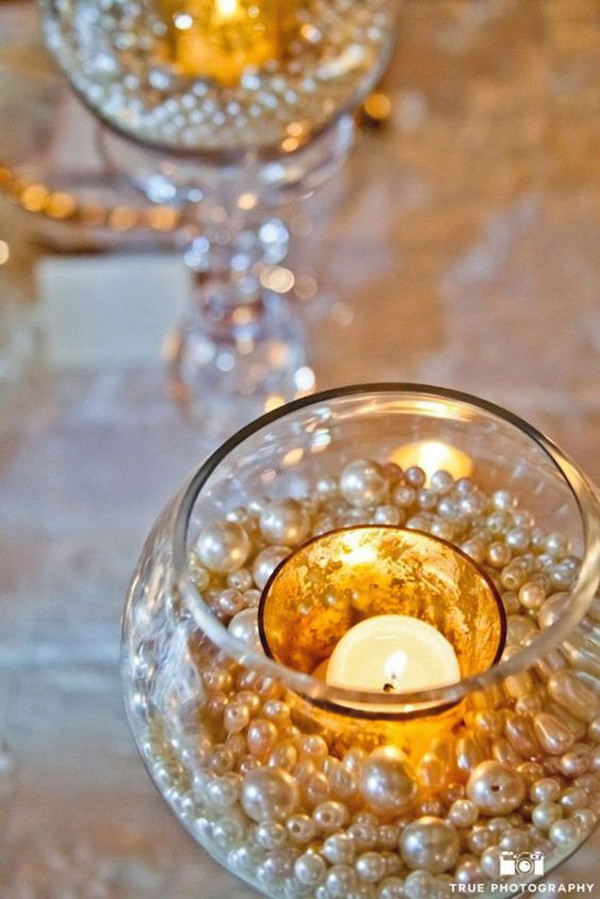 vintage wedding decoration ideas with candles