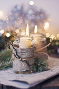 woodland winter wedding centerpiece wedding ideas with candles