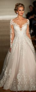 a line illusion wedding dresses for 2017 trends
