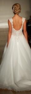 elegant v neck wedding dresses with sequins for 2017 back details