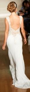 mermaid v neck wedding dresses 2017 back details