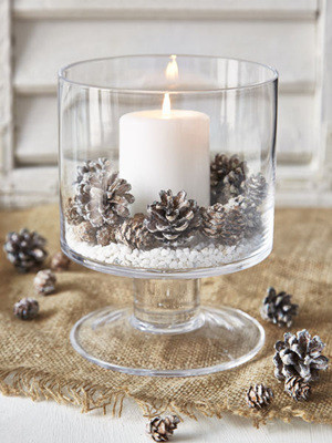 pinecones inspired rustic winter wedding centerpieces