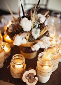 winter wedding centerpieces with candles