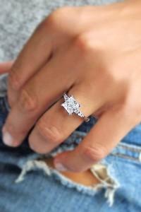 amazing pricess cut wedding engagement rings