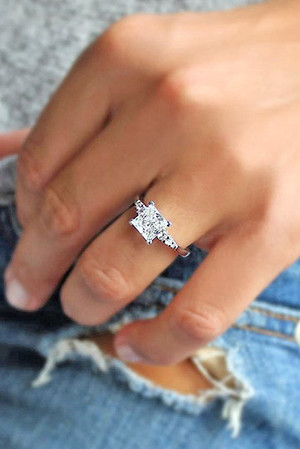 amazing pricess cut wedding engagement rings