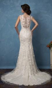 amelia sposa lace wedding dresses back view 2017