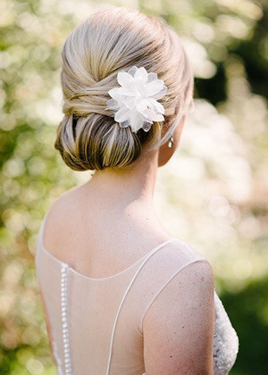 french updo bridal hairstyles for long hair