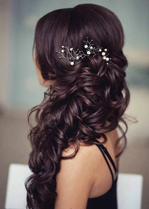 long wedding hairstyles with headpieces for 2017