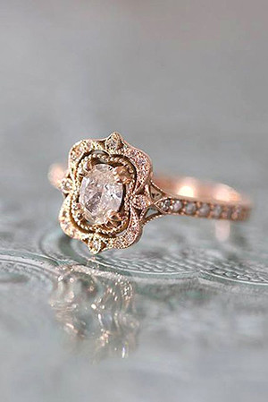 oval vintage style wedding engagement rings