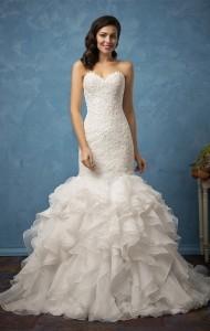 strapless mermaid amelia sposa wedding dress 2017 collection