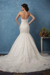 strapless open back wedding dress 2017 trends