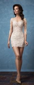 v neck a line amelia sposa wedding dresses short view
