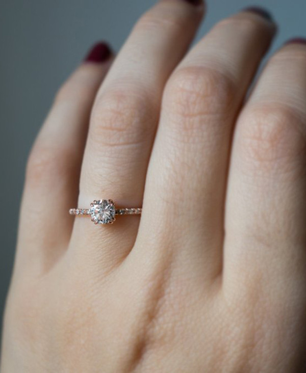 vintage rose gold wedding engagement rings
