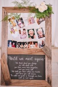 country rustic wedding photo display ideas
