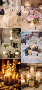 romantic wedding centerpieces with candles for 2017 trends
