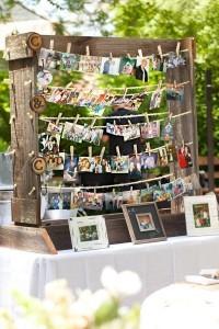 rustic wedding decoration ideas with photo display