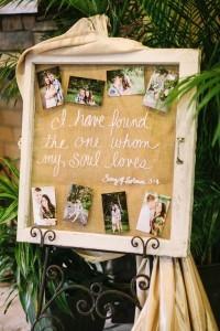 rustic wedding photo diesplay ideas