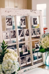 wedding photo display ideas for rustic themed events