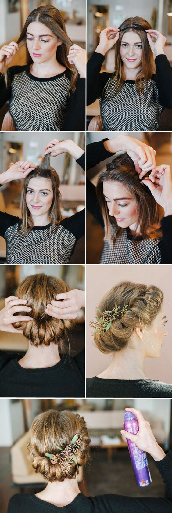 diy twisted braid crown wedding hairstyles