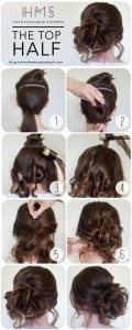 diy updo wedding hairstyle ideas step by step