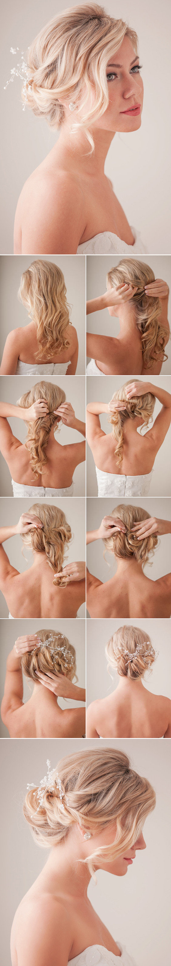 diy wedding updo hairstyles with tutorial