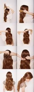 easy half up half down wedding hairstyles