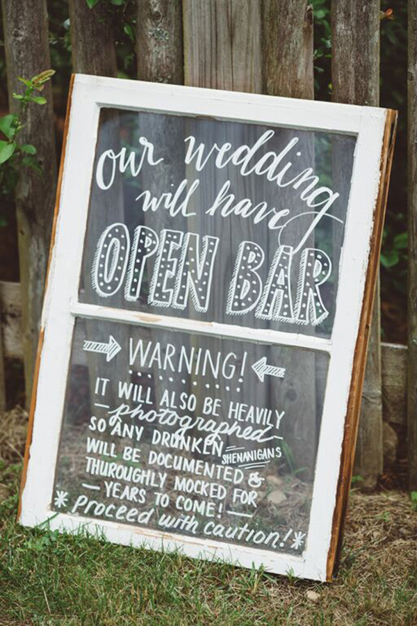 rustic vintage wedding sign ideas
