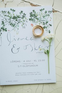 simple but elegant greenery botanical wedding invitations