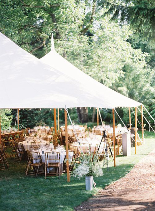 tented backyard rustic wedding reception ideas