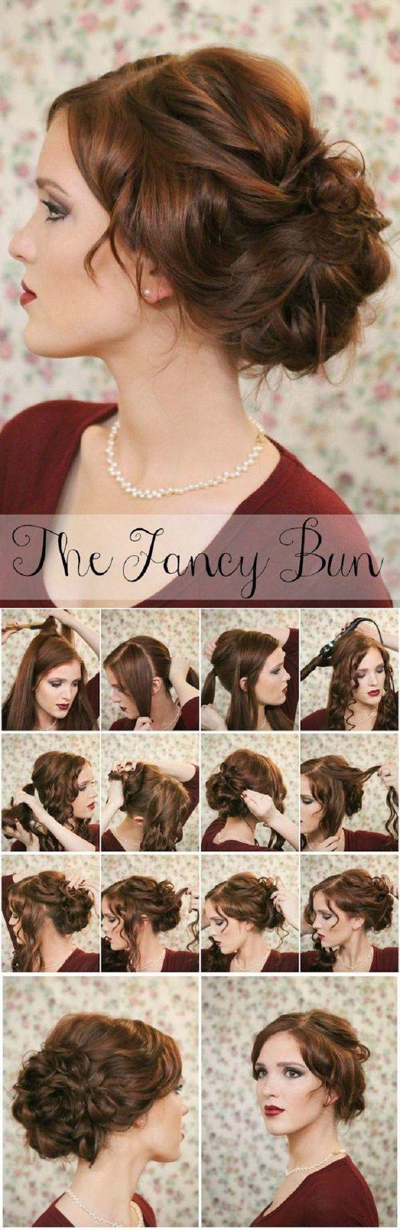 vintage diy updo wedding hairstyles