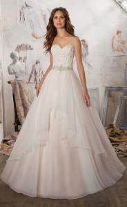 Crystal Beaded strapless wedding dress for 2017