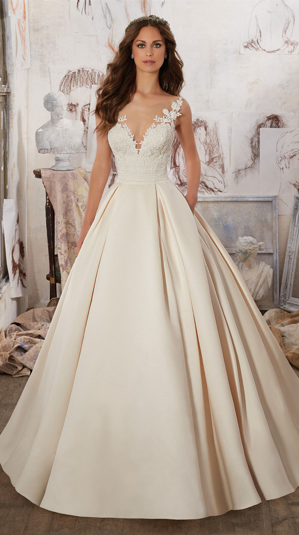 Exquisite Guipure Lace bridal ball gowns from Morilee Madeline Gardner