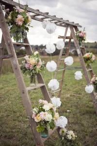 garden wedding arch ideas with ladders