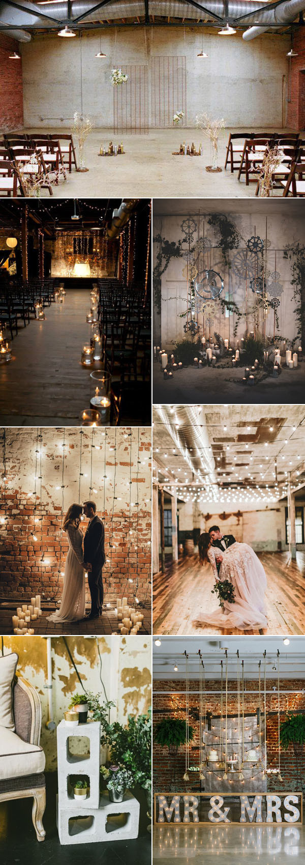 2017 trending industrial wedding ideas for ceremony