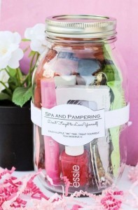 mini pamper package wedding bridesmaid gift ideas