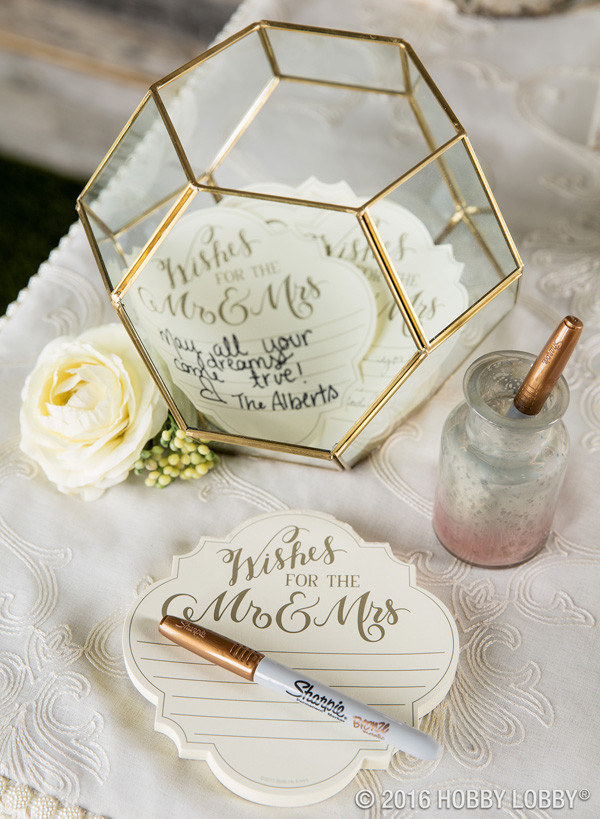 modern wedding guest book ideas with terrarium